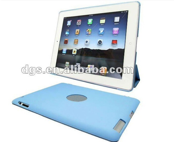 High quality PU Leather Smart Cover Case For iPad