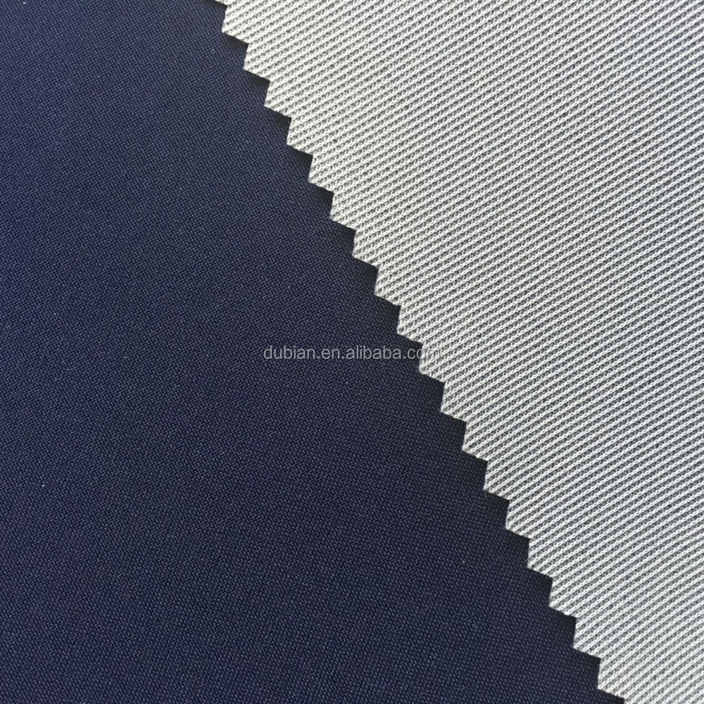 100% Polyester plain merchanical stretch bonded fabric tricot with TPU membrane
