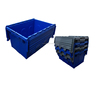 50kgs Attach Lid Storage Stackable Divided Plastic Crates