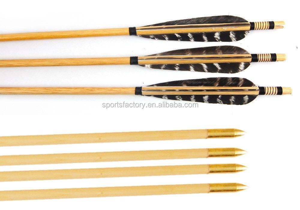 plumes de faisan tir l 39 arc bois fl che pour arcs classiques avec sliver point arc fl che id. Black Bedroom Furniture Sets. Home Design Ideas