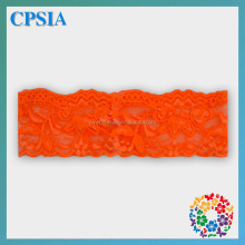 2014 Newest Lace Headband Orange Bright Colour Newborn Headband Stretch Wide Baby Headband
