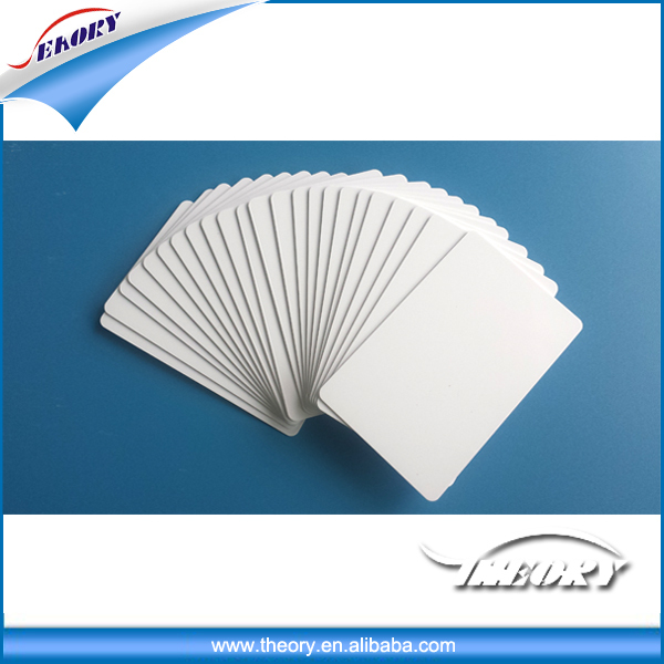 ISO CR80 credit card size plastic blank card in pvc