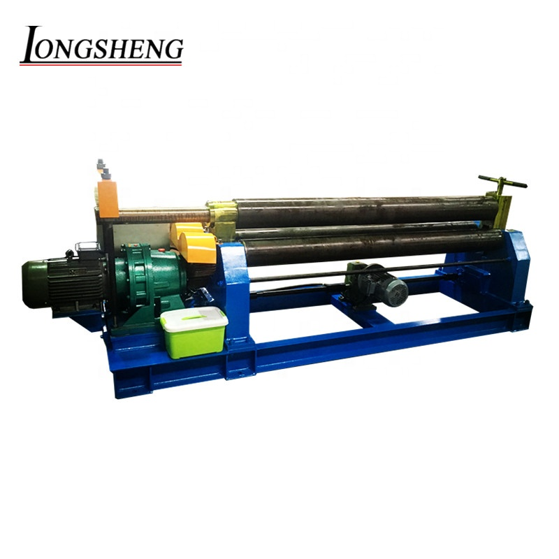 4mm 6mm thick mechanical 3-roll bending machine plate rolling machine plate bending machine manual