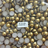 new arrival 10mm matte gold color half round plastic pearl beads