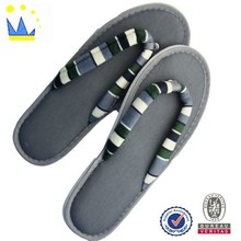 fashion fabric indoor slippers flip flop men and woman indoor slippers