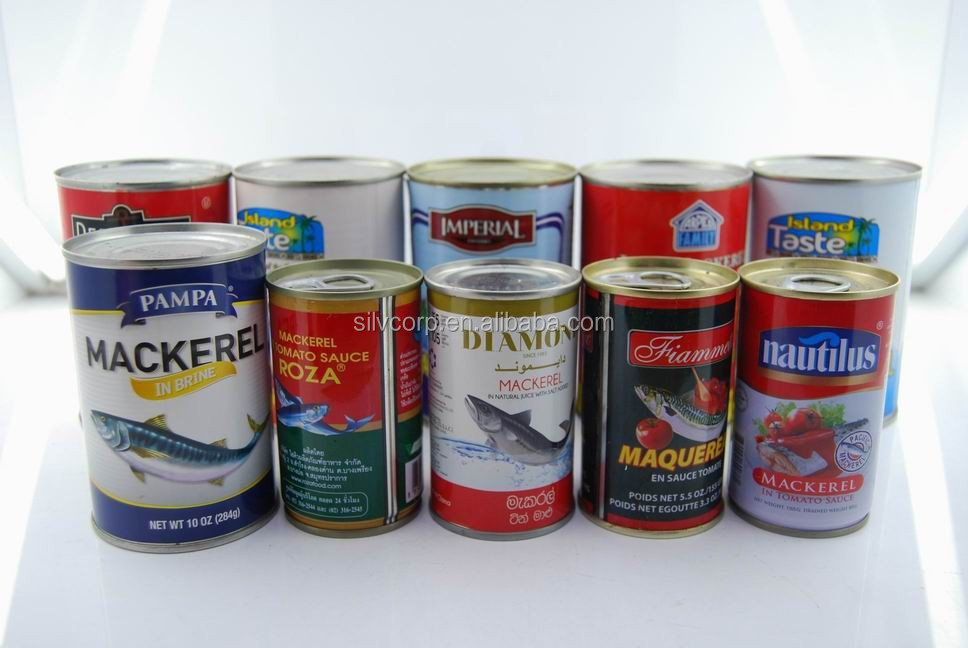 Wholesale 155g Canned Mackerel Food in Oil