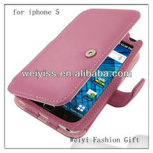 Custom Petal Pink Book Type Leather Case for Samsung Galaxy S Wifi5.0 Galaxy Player5.0