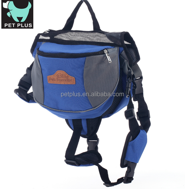 Outdoor Adjustable Dog Saddle Bag Large Capacity Dog Backpackdog training treat bag