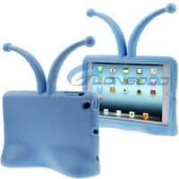 Grasshopper Self-Standing Kid-friendly Stand 3D EVA Foam Case for iPad mini