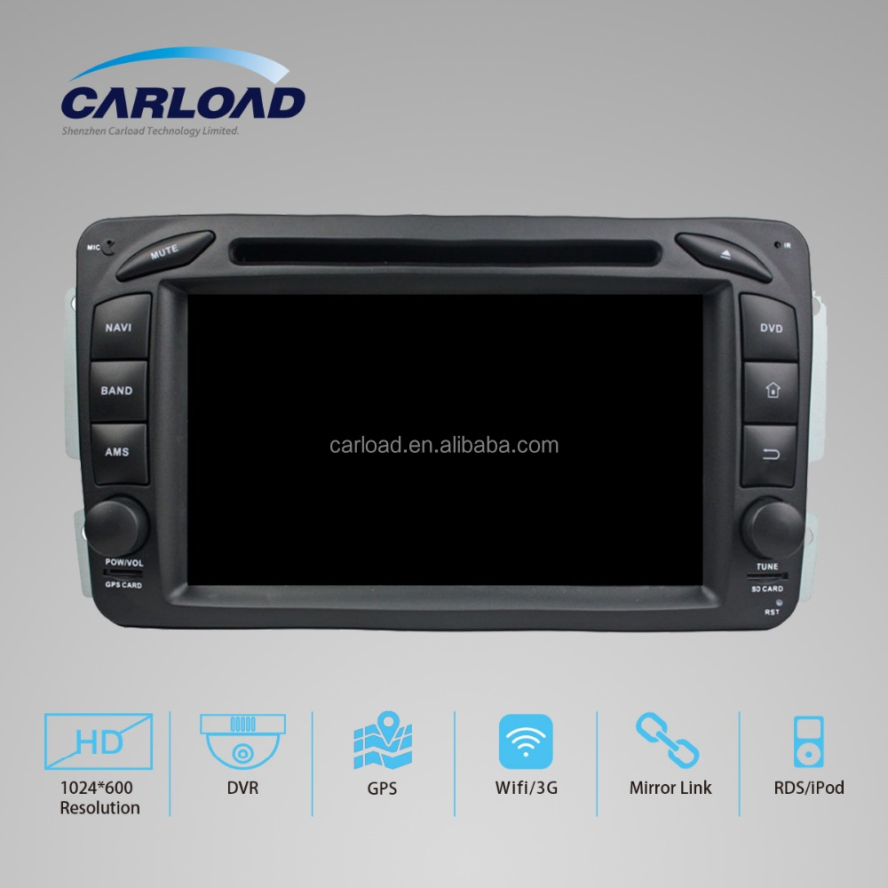 Android 5.1.1 2 din car stereo with dvd for Mercedes W209