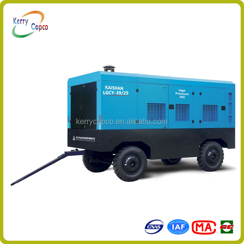 KAISHAN LGCY-39/25 630hp 25bar high efficiency high pressure diesel engine portable screw air compressor for drilling rig