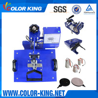 "Color-king 6""*8"" Hottest Cheapest Most Popular Combo 8IN1 Swing Away Heat Press"