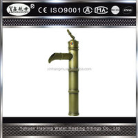 Hot Sale Bamboo Shape Antique Brass Bronze Water Taps Sink Wash Basin Faucet Kitchen Mixer