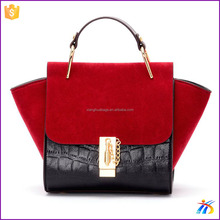 2016 Fashion PU leather handbag factory Cheap price Hand Bags for women