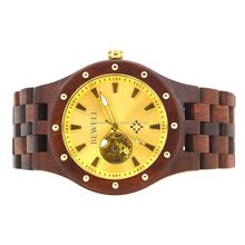 2017 new design men watches luxury brand automatic wooden watch 30m water proof