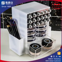 Handmade high quality make up cosmetic display stand / rotating acrylic lipstick organizer & acrylic mac lipstick storage