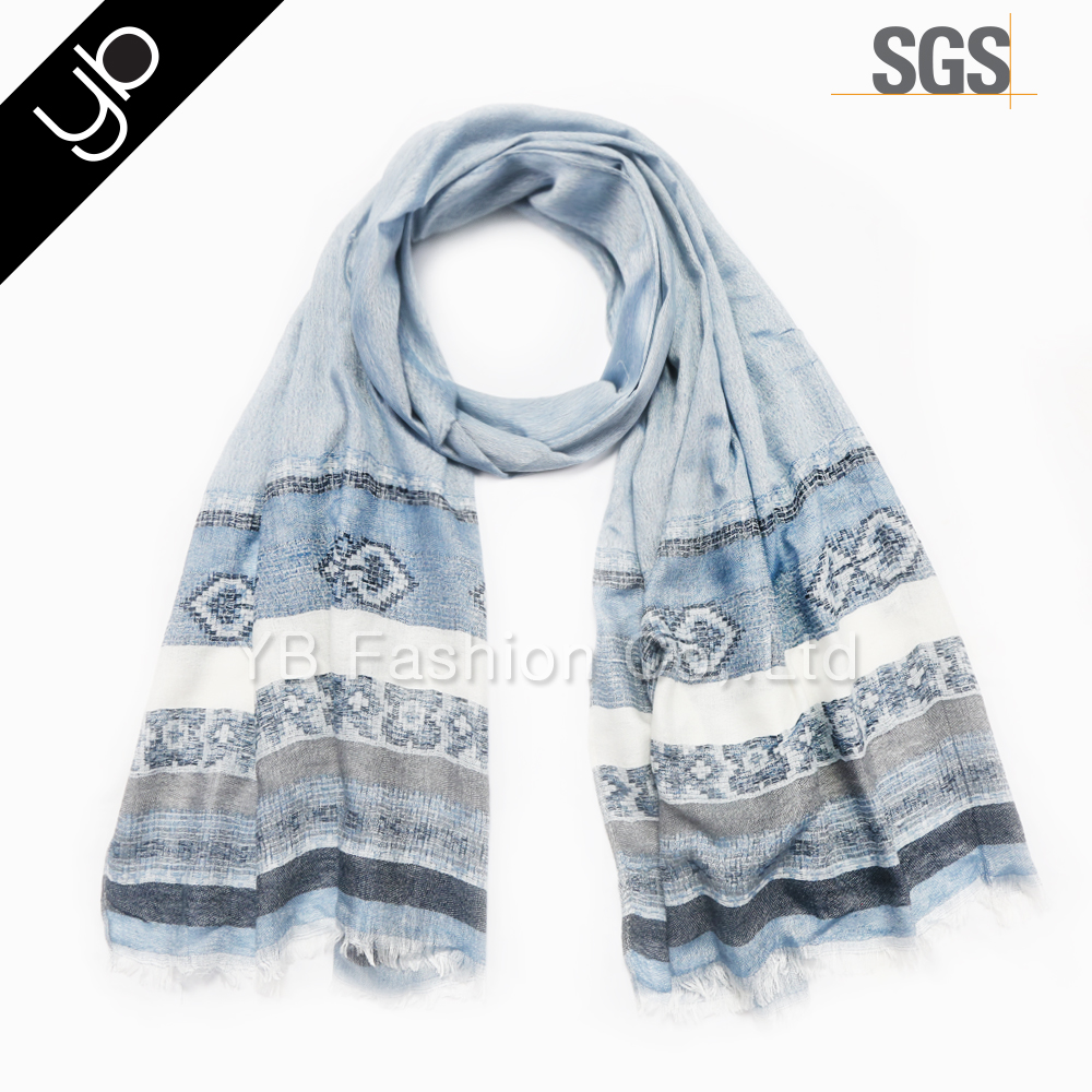 fashionable viscose jacquard weave tassel women turkish scarf fabric