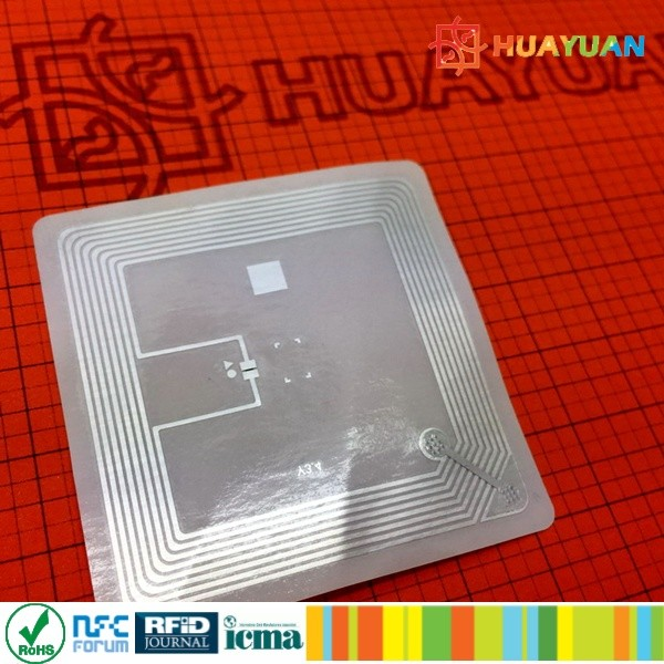 Custom Small HF 13.56mhz ISO15693 I CODE SLI RFID Paper library Label