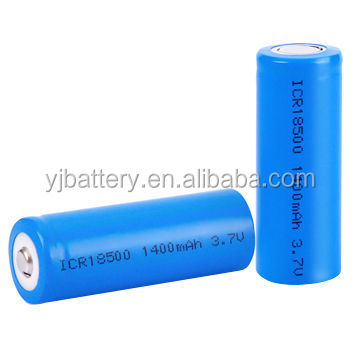 Stock J18650 3.7v 1400mAh400mah 5000m li ion battery 18500 with rechargeable in stock for laptop, tablet and gps in good quality