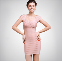 woman's short Bandage bridesmaid dress 2018