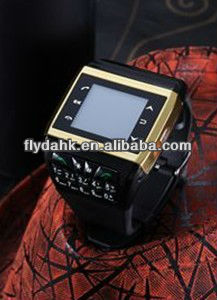"1.4"" quad band dual sim watch mobile phone Q9"