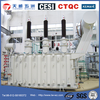 132kV 110kV three phase oil immersed voltage power transformer