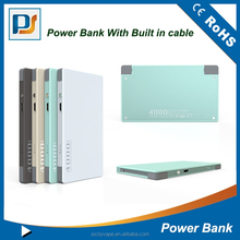 4000mAh slim portable power bank with led charge indicator