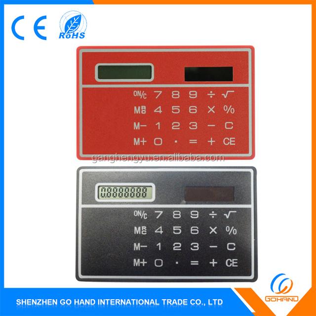 Cheap Novelty Gift 8 Digit Solar Mini Ultra Thin Card Calculators