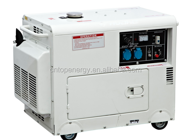 New Hot Selling 5KVA Air Cooled Top open canopy slient Diesel Generator 188F engine AVR spare parts for easy maintenance