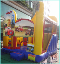 inflatable cars combo with slide, inflatable slide, inflatable bounce