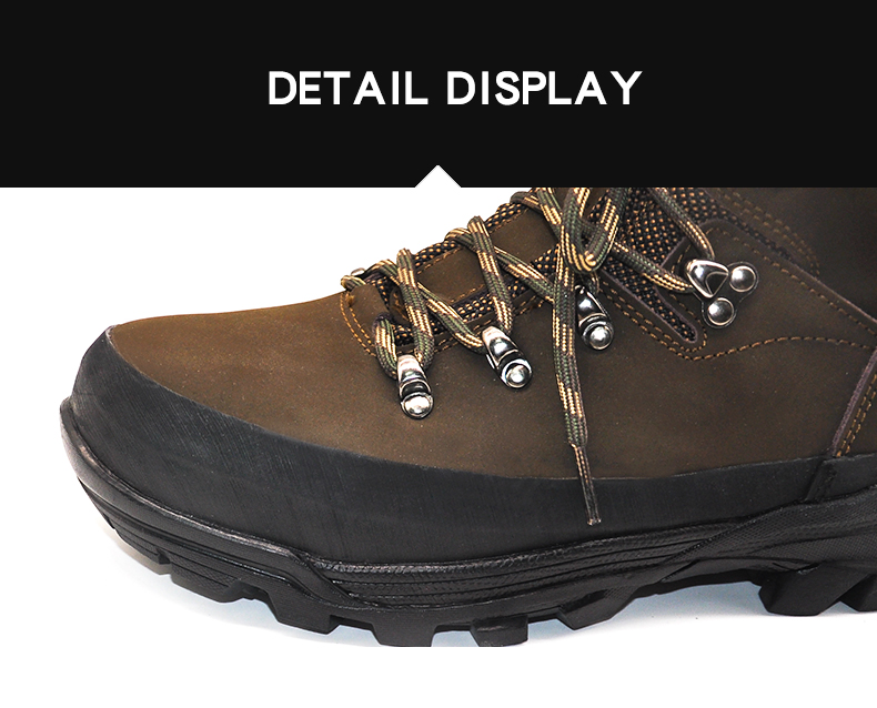 "6"" Inches High quality Outsole Water repellent Nubuck Leather Brown Color combat Hunting boots"