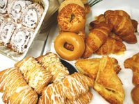 Wholesale, Apple Turnover, Bear Claw Croissant, croissants, bagels, muffin, danish, donuts, cakes, breads, scones, bars, cookies