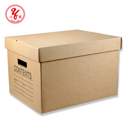 corrugated archive box for office file storage