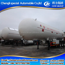 Top quality new design 2 bpw wheels lpg semi trailer