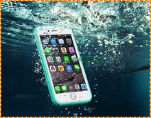 Hot selling 2 in 1 shockproof waterproof soft TPU cell phone case for iphone 7 plus