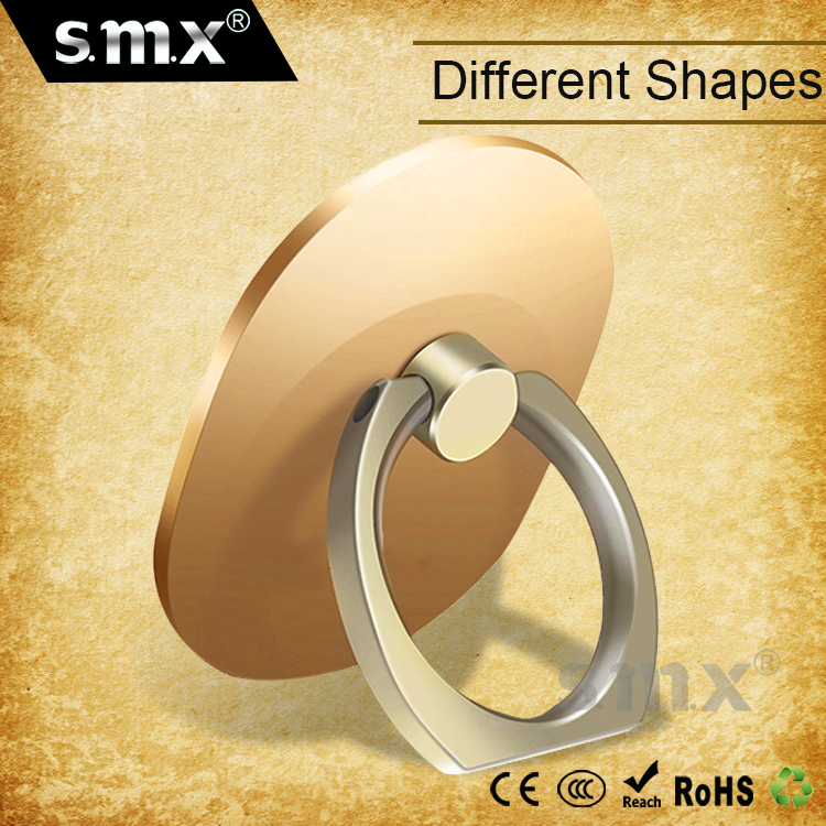 Different Shapes Customized Universal Finger Smart Phone Holder Ring Cell Phone Ring Holder