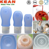 mini leak-proof food grade silicone soft pet bottle cooking oil