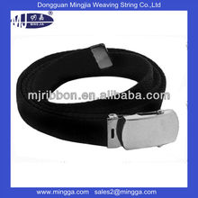 fashionable customized polyester metal buckle fabric woven belts for men