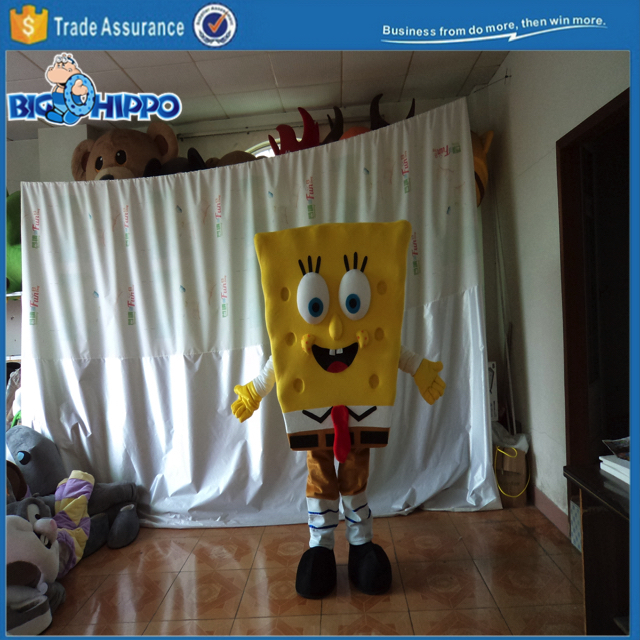 Sea sponge creature funny cartoon movie squarepants character high quality custom mascot costume