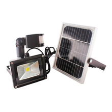 New high powered outdoor <strong>10</strong> <strong>W</strong>/20W COB LED solar lighting motion sensor led rechargeable flood light