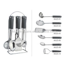 Stainless Steel kitchen tools set -rubber finished grip 6622S