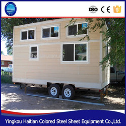 Wooden camping house on wheels prefabricated green tiny home on wheels container houses with wheels design mobile trailer houses