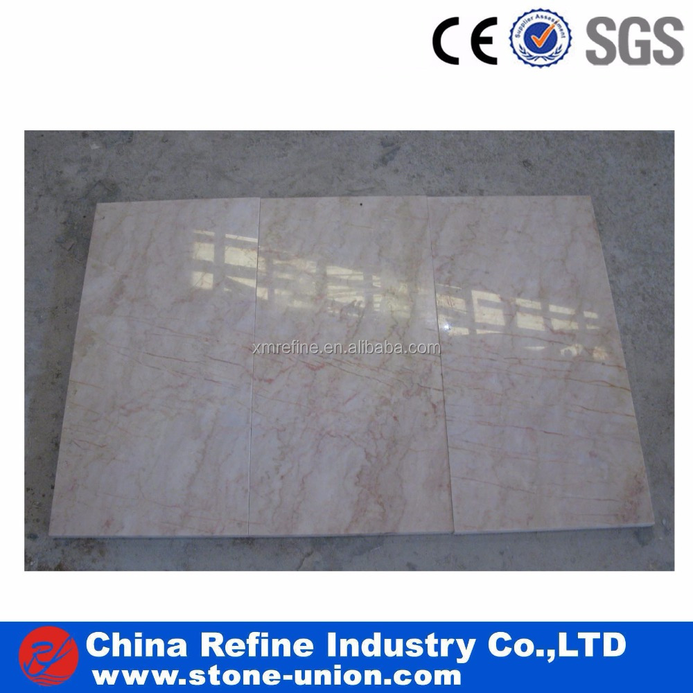 China Rose Cream Beige Red Line Marble Tile