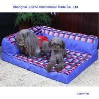 Top quality wholesale newest red check dog sofa pet bed cheap doghouses