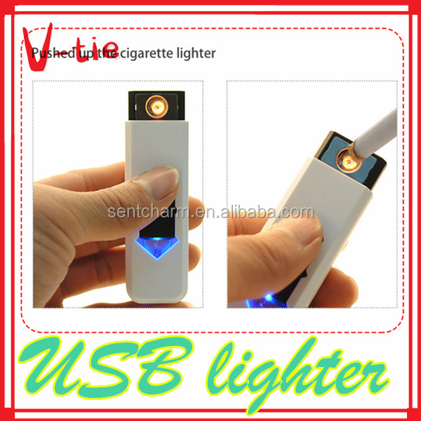 Latest hot selling usb charged windproof safe flameless atomic lighter