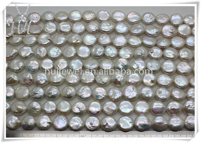 coin shape fresh water pearl beads pearl strand of different sizes available