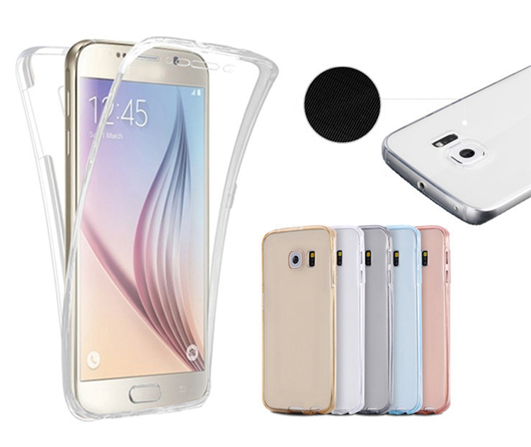 For Iphone 6 Case 360 Degree Full Body Crystal Clear Protective Soft TPU Cell Phone Cover for Iphone 5 6s