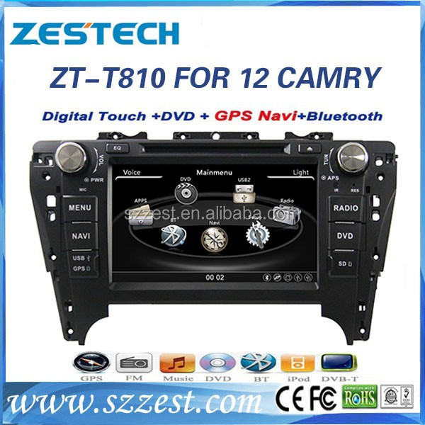 Zestech car radio dvd gps maps download car audio for Toyota Camry 2012