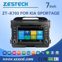 Shenzhen Manufacturer HD Touch Screen 2 din Car stereo for Kia Sportage car dvd player with gps, fm radio A8 chip