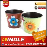Kindle 2013 New polychrome oval shape cheap flower tub with 31 years experience